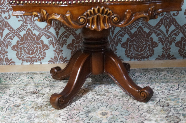 TrÈs spacieux fauteuil de bureau hÊtre massif siege simili cuir