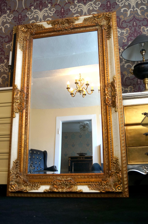 Miroir 154x94cm Blanc Dore Ancien Baroque Pour Palais Cheminee D Un Chateau Esprit De Chateau